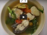 [คลิป] ต้มยำปลากะพงน้ำใส แบบบ้านๆ กับส้มตำง่ายๆ แถมเมนูผัดผักหวานน้ำมันหอย